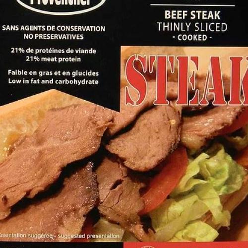 Steak de boeuf tranché mince